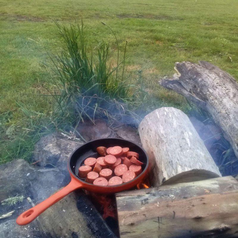 Frying Pan Orange Skillet
