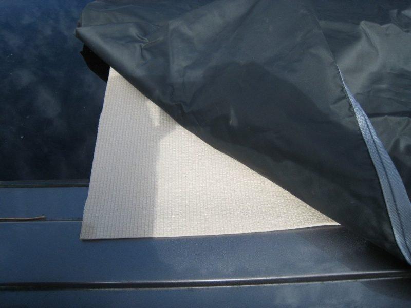 rightline skid mat for under vehicle storage bag for roof rack