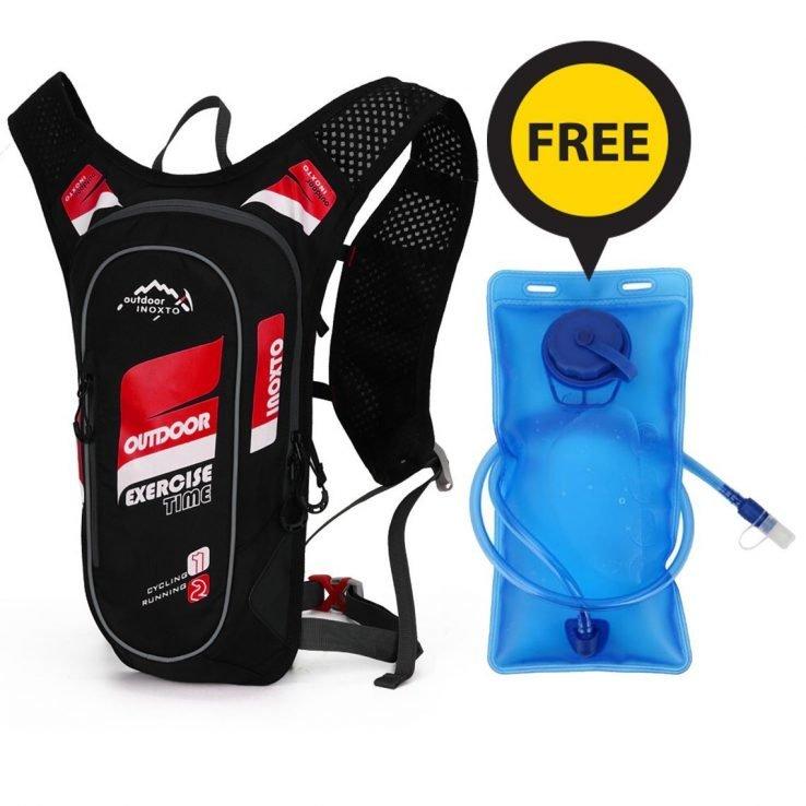 Red Water Bladder Bag with free hydration bladder