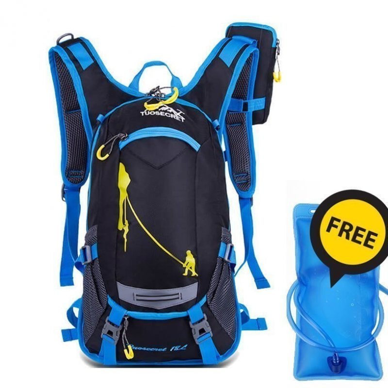 18L Blue Hyedration Bag with free water bladder