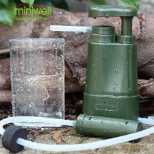 Water filter pump portable tramping outdoor survival